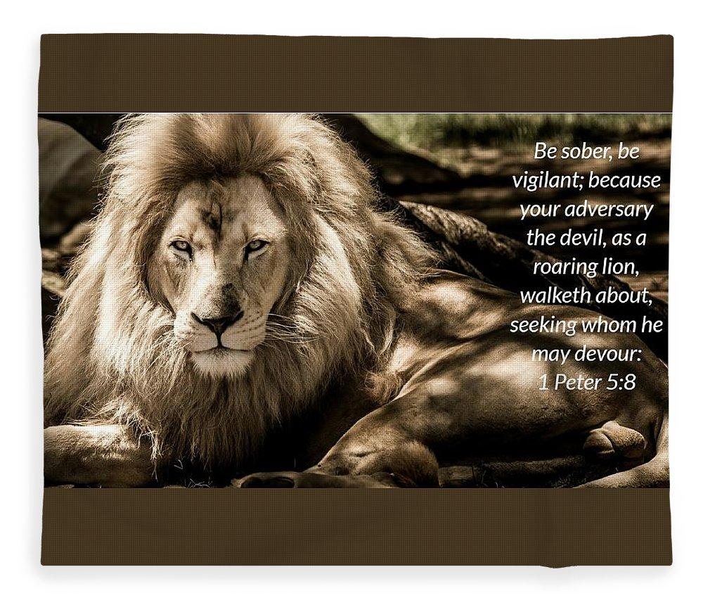 Be Sober Your Adversary - Blanket - Love the Lord Inc