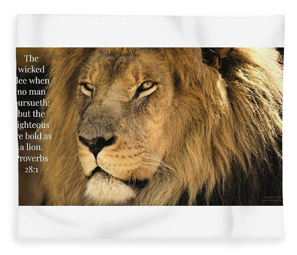 Bold As A Lion - Blanket - Love the Lord Inc