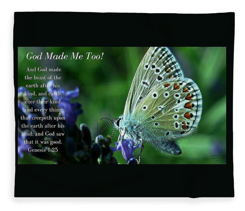 God Made Me Too - Blanket - Love the Lord Inc