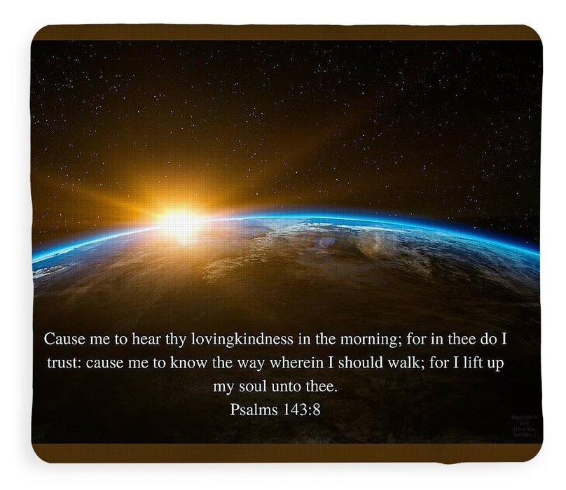 Hear Thy Lovingkindness In The Morning - Blanket - Love the Lord Inc