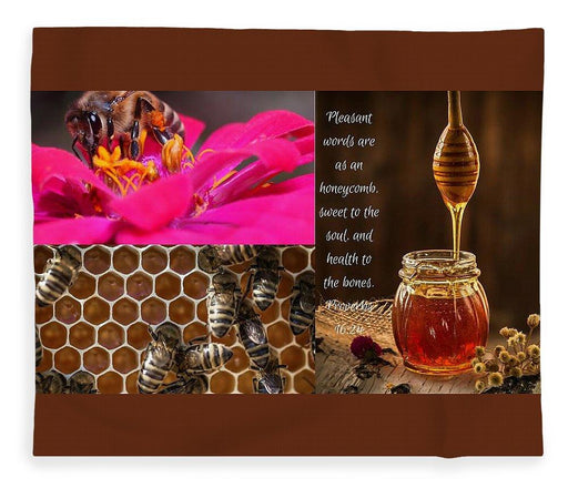 Pleasant Words And Honey - Blanket - Love the Lord Inc