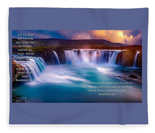 River Of Life - Blanket - Love the Lord Inc
