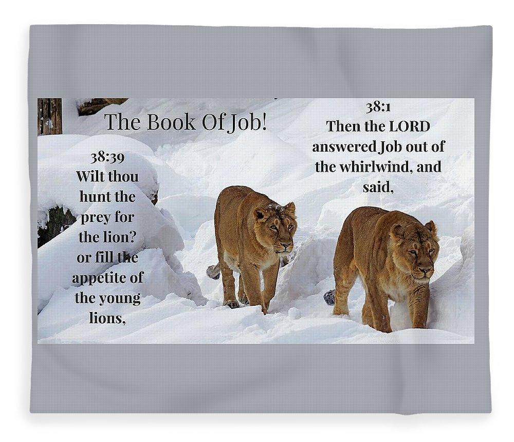 The Book Of Job 2lions - Blanket - Love the Lord Inc