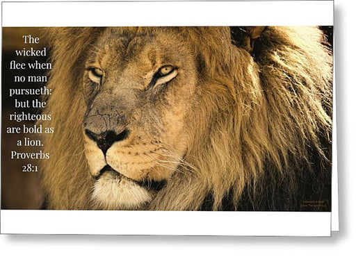 Bold As A Lion - Greeting Card - Love the Lord Inc