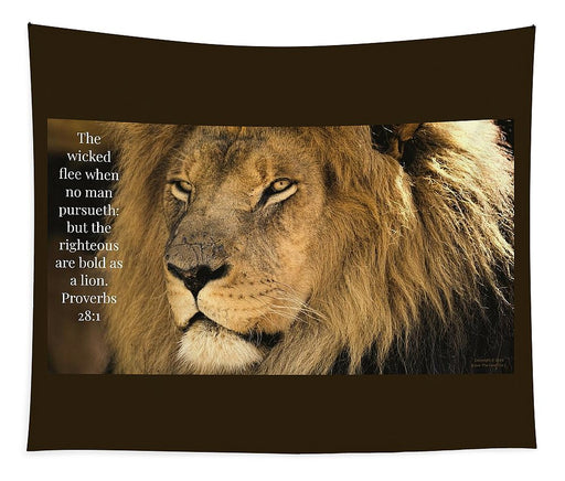 Bold As A Lion - Tapestry - Love the Lord Inc