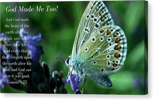 God Made Me Too - Canvas Print - Love the Lord Inc