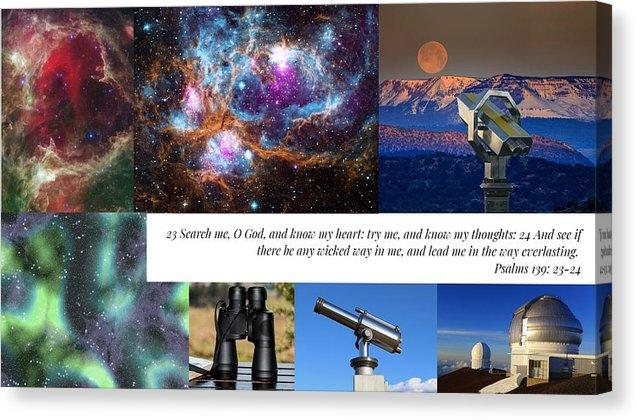 Search Me Oh Lord - Telescope - Canvas Print - Love the Lord Inc