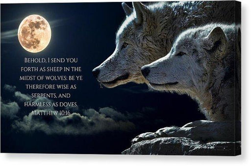 Sheep Amongst Wolves - Canvas Print - Love the Lord Inc