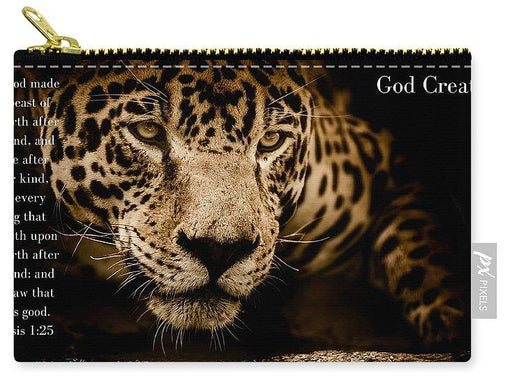 God Created Jaguar - Carry-All Pouch - Love the Lord Inc