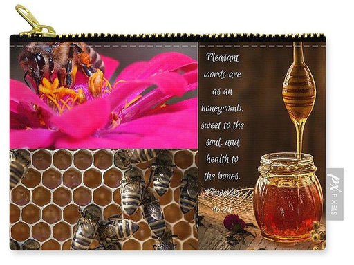 Pleasant Words And Honey - Carry-All Pouch - Love the Lord Inc