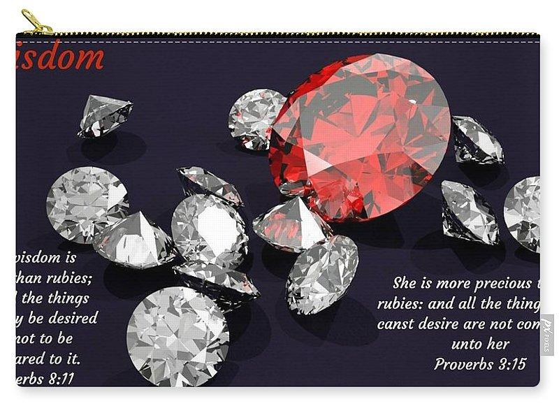 Wisdom Rubies And Proverbs - Carry-All Pouch - Love the Lord Inc