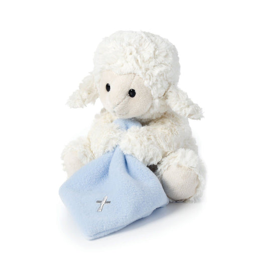 Baby Teddy Bear - Singing Jesus Loves Me (Blue Lamb) - Love the Lord Inc