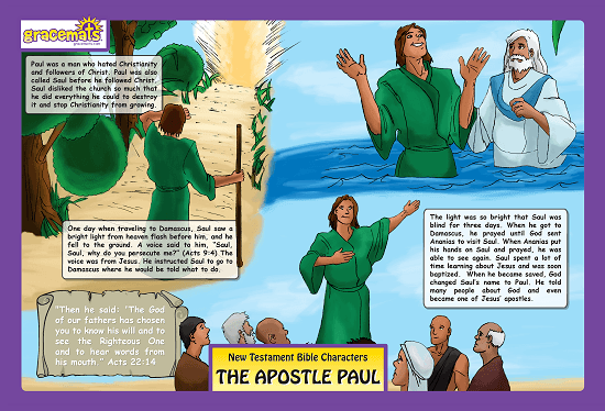 Childrens - Christian Childrens Placemat - The Apostle Paul