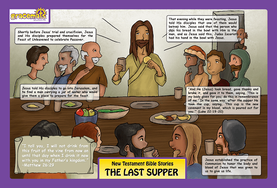 Christian Childrens Placemat - The Last Supper - Love the Lord Inc