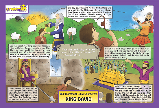 Childrens - Christian Childrens Placemats - King David