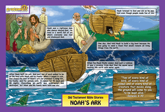 Childrens - Christian Childrens Placemats - The Story Of Noah