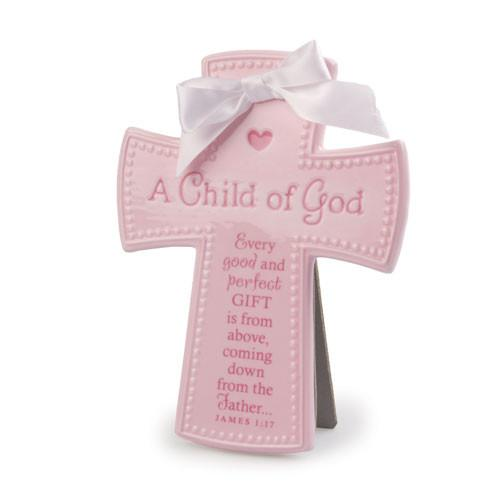 Cross - A Child of God Cross (Pink) - Love the Lord Inc