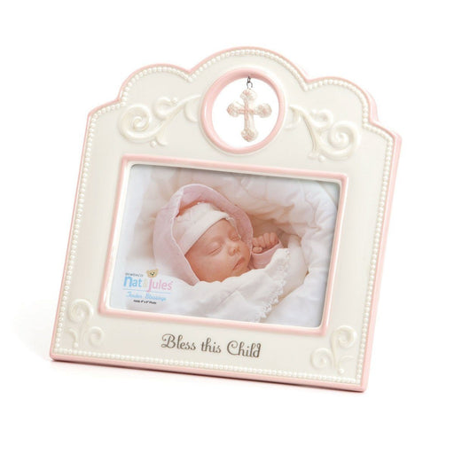 Photo Frame - Bless This Child (Pink) - Love the Lord Inc