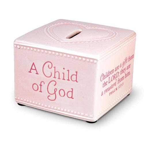 Scripture Gifts - A Child of God Bank (Pink) - Love the Lord Inc