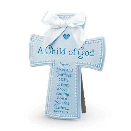Childrens - Scripture Gifts - A Child Of God Cross (Blue)