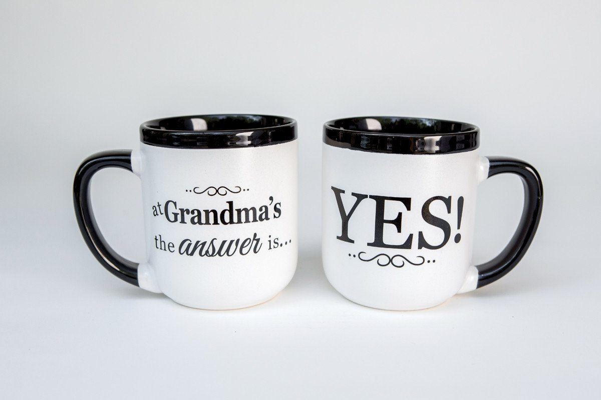 Christian Mug - At Grandma's the Answer Is Yes! - Love the Lord Inc