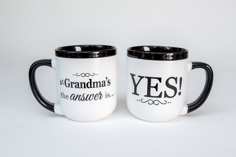 Cup/Mug - Christian Mug - At Grandma's The Answer Is Yes!