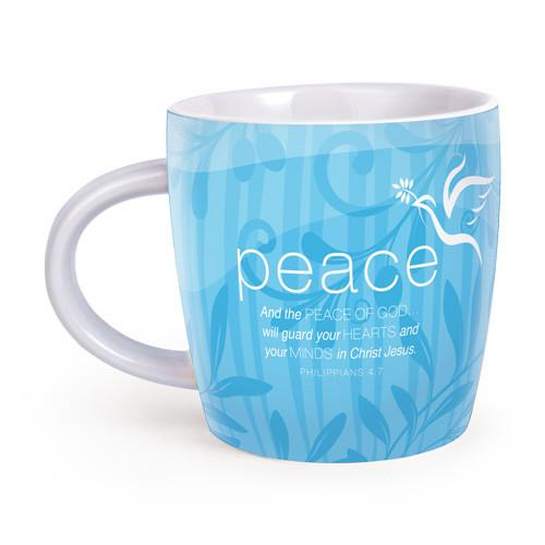 Christian Mug - Cup of Peace (Mug and Scripture Cards) - Love the Lord Inc