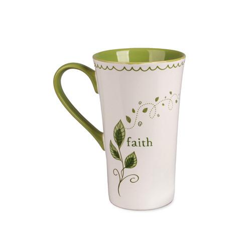 Christian Mug - Faith Growing Vine Latte Mug - Love the Lord Inc