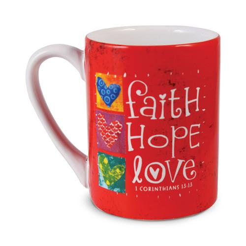 Christian Mug - Faith, Hope and Love - Love the Lord Inc