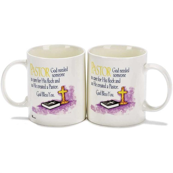 Christian Mug - God Created Pastors - Love the Lord Inc