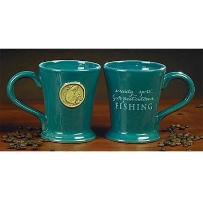 Christian Mug - God's Great Outdoors Fishing Mug - Love the Lord Inc