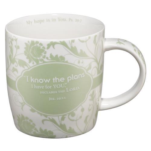 "Christian Mug - ""I Know the Plans I Have for You Declares The Lord"" - Love the Lord Inc"