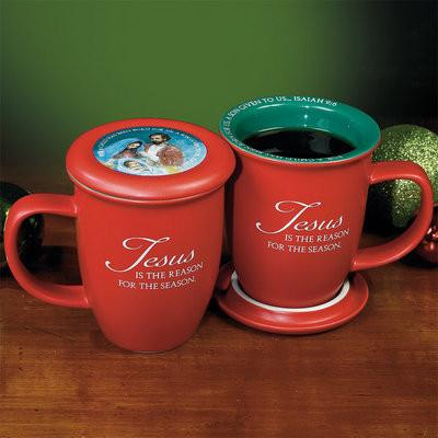 "Christian Mug - ""Jesus is the Reason"" Mug and Coaster Set - Love the Lord Inc"