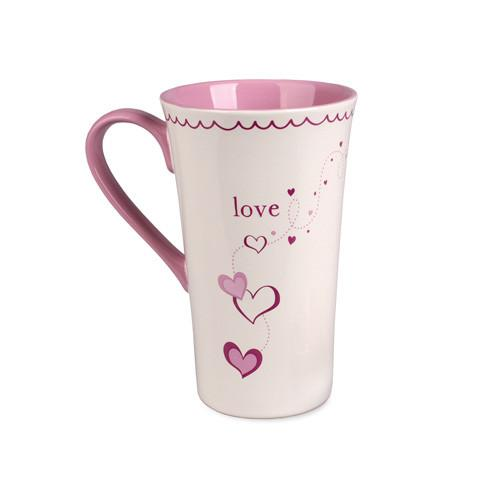 Christian Mug - Love Heart Latte Mug - Love the Lord Inc