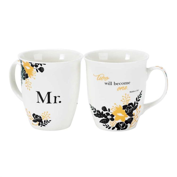 Christian Mug - Mr and Mrs (Married Couple Set) - Love the Lord Inc
