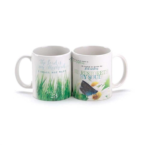 Cup/Mug - Christian Mug - Psalm 23 The Lord Is My Shepherd