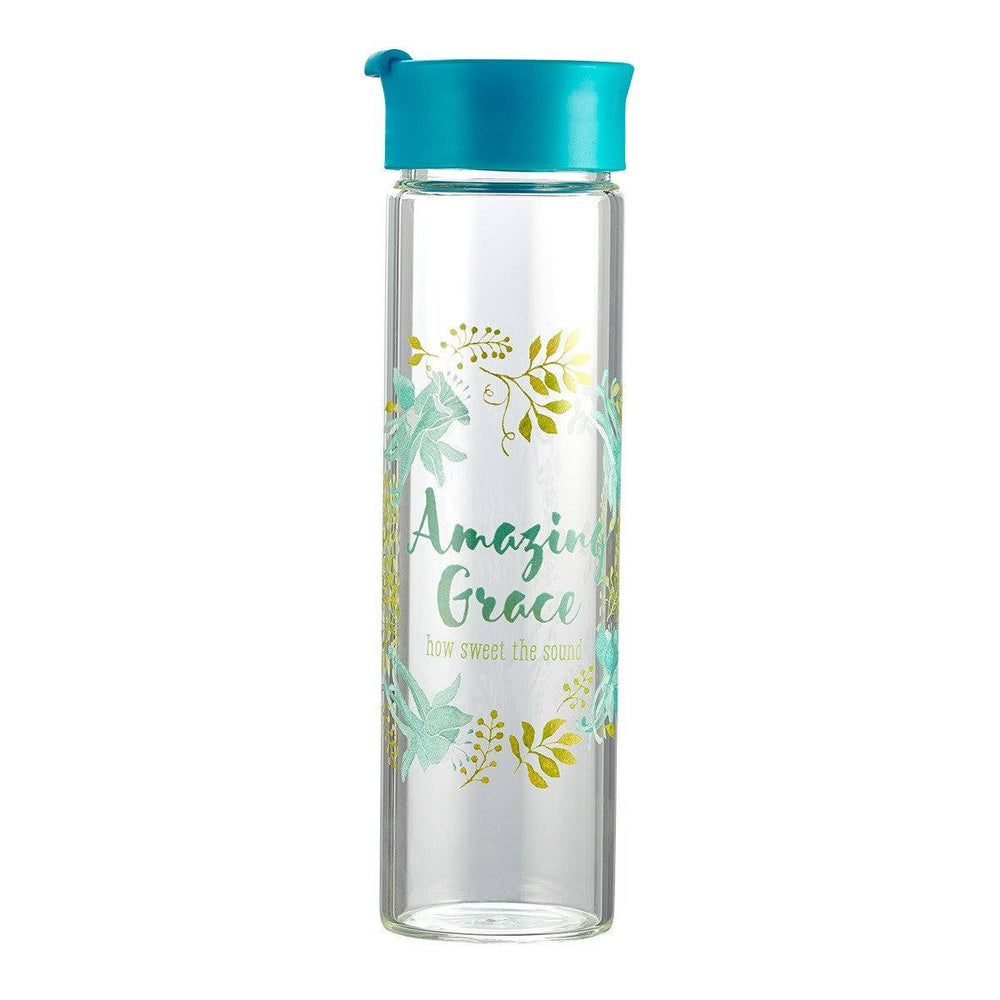 Christian Water Bottle - Amazing Grace - Love the Lord Inc