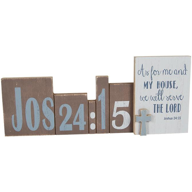 "Christian Art - ""As For Me and My House"" Message Bar - Love the Lord Inc"