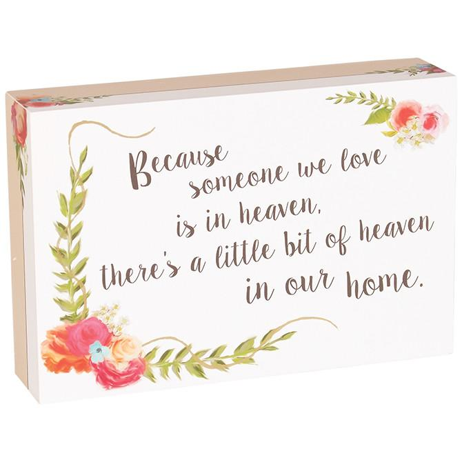 Christian Gift - Table Block (Heaven/Home) - Love the Lord Inc