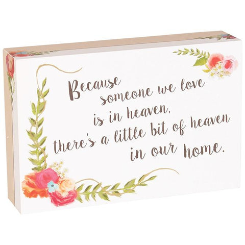 Desk/Plaque - Christian Gift - Table Block (Heaven/Home)