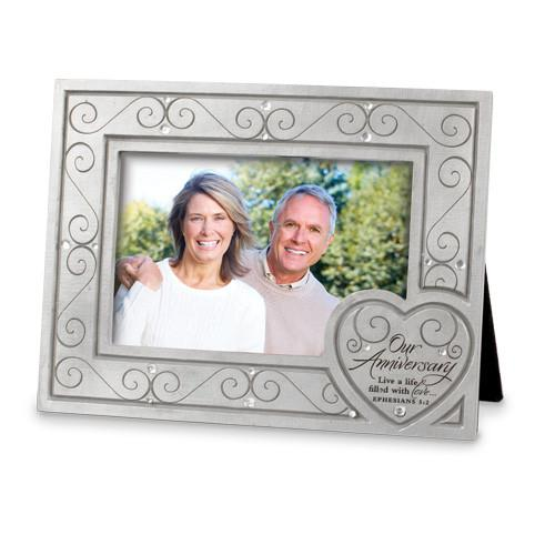 Desk/Plaque - Christian Photo Frame - Our Anniversary
