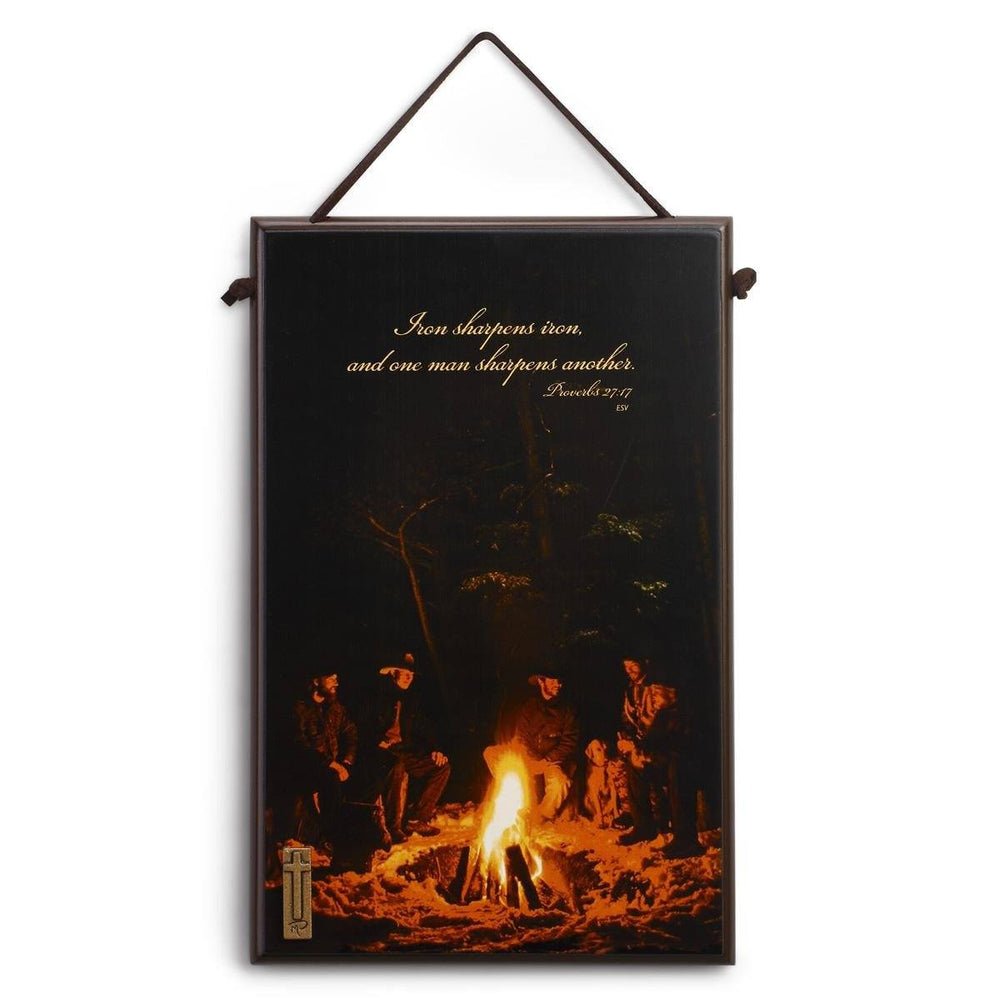 Christian Wall Art - Christian Sportsman (Campfire Friendship) - Love the Lord Inc