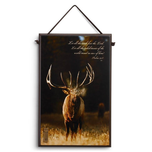 Christian Wall Art - Christian Sportsman (Elk Plaque) - Love the Lord Inc