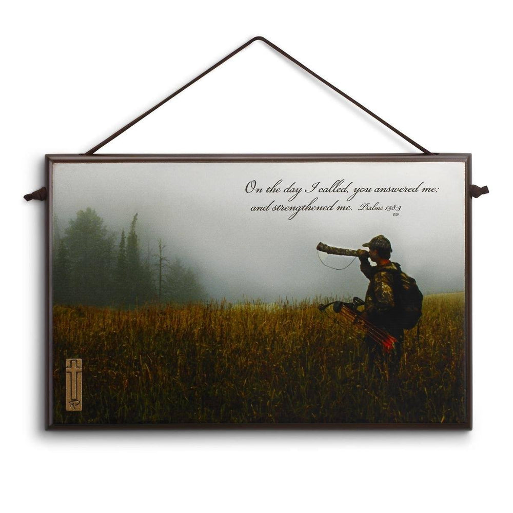Christian Wall Art - Christian Sportsman (Hunter Calling Elk) - Love the Lord Inc