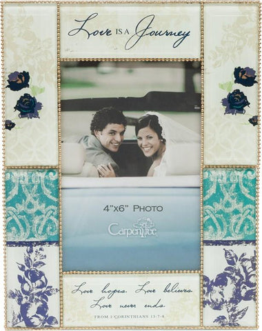 Desk/Plaque - Photo Frame (Christian) - Love Is A Journey