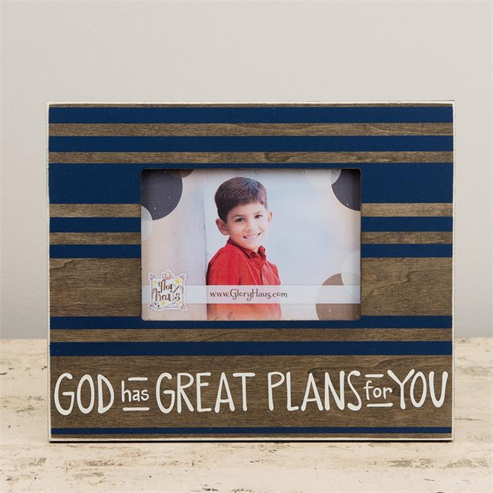 Photo Frame - God Has Great Plans For You - Love the Lord Inc