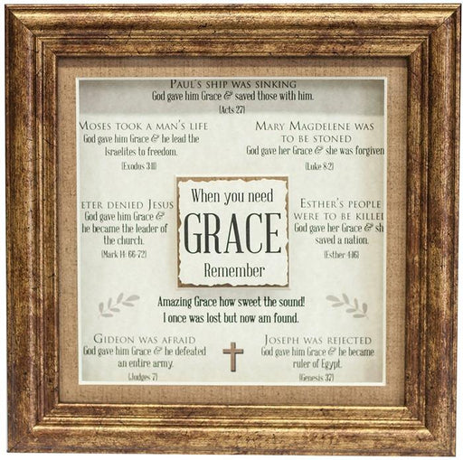 Plaque - Grace 3D Plaque (Multiple Scriptures to Encourage) - Love the Lord Inc