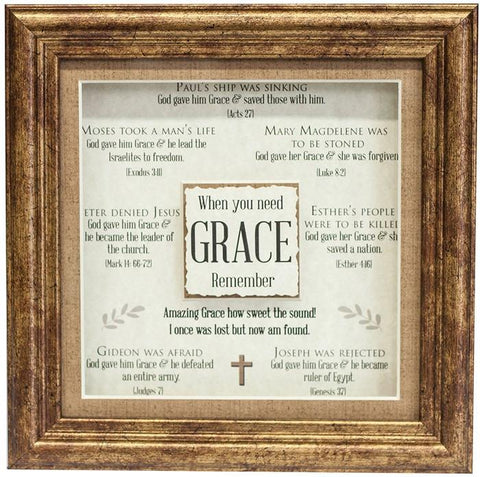 Desk/Plaque - Plaque - Grace 3D Plaque (Multiple Scriptures To Encourage)