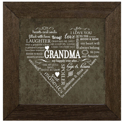 Desk/Plaque - Plaque - Grandma Sentiment Heart