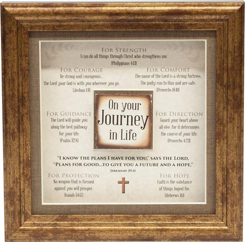 Desk/Plaque - Plaque - Journey In Life 3D Plaque (Multiple Scriptures To Encourage)